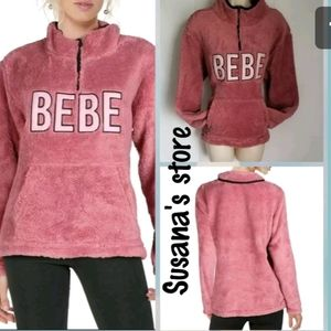 New bebe pink  Sherman warm Sweater